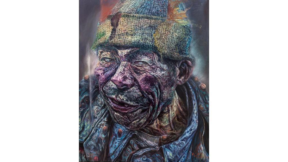 王黎明的系列油画肖像既有现实人物,又有历史人物,现实人物多是一些普通人,肖像中暗含一种异于现实的异像存在,这种异像存在并非游离于现实之外的纯粹抽象的表述,而是围绕剥离、本质、荒诞以及历史扭曲等观念展开的形象叙事。 王黎明简介 国家二级美术师,后85中国当代艺术联盟委员会委员,滨州画院副院长,滨州油画院院长(筹),中国新野性艺术群成员。近年来曾应邀出访美国、法国、瑞士、日本、韩国、加拿大等国家举办展览并进行学术交流活动。