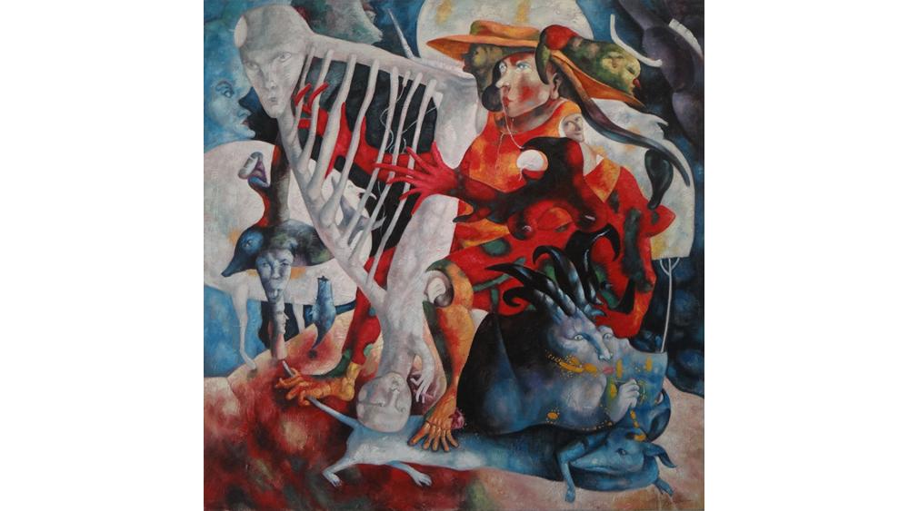 """王星星的作品以可见的人体代指不可见的灵魂,以剖面的局部代指内在的丰富感受或现状,这就等于给他解构后的灵魂碎片系上了""""坠子"""",如同一只氢星气球牵在你手上,任凭风再大都不会无根飘荡。 作者简介: 王星星,职业艺术家,中国新野性艺术群成员。1987年生于江苏沛县,自幼学习绘画,国外留学7年现工作生活于北京"""