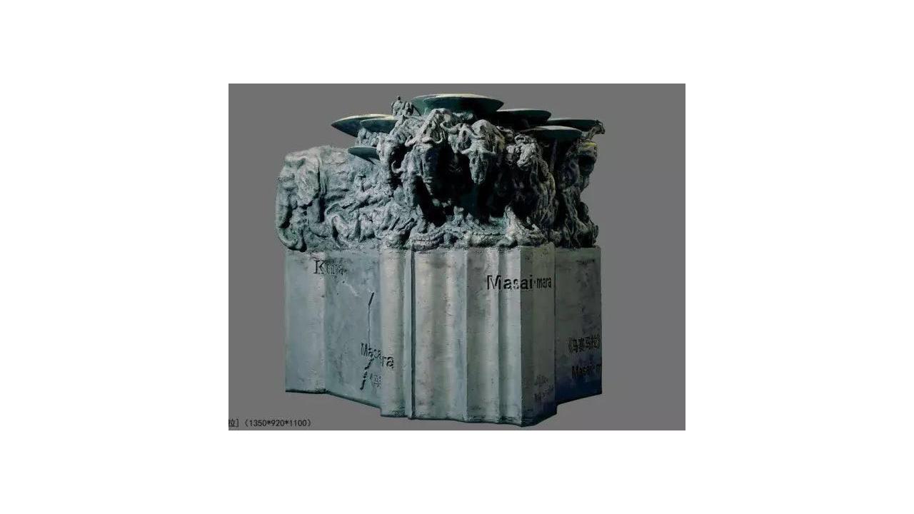 谢文开: 亚洲雕塑协会会员 中国雕塑学会会员 作品《王爷》系列参加日本佛冈展