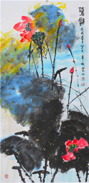 王建文,字雯子,女,1966年生。1986年毕业于荆州工艺美术学校,1996年在广州创办冰雪儿服饰公司,兼任服装设计师,2008年起师从海外著名书画家许固令(白父)先生从事书画学习及创作,并任《白轩》——许固令艺术工作室助理。